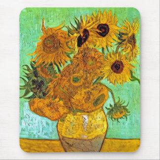 Van Gogh - doce girasoles Alfombrillas De Ratones