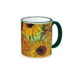 Van Gogh - doce girasoles Tazas De Café