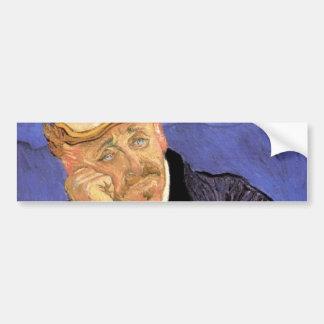 Van Gogh, Doctor Gachet, Vintage Impressionism Art Bumper Sticker