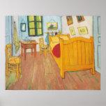 Van Gogh - dormitorio en Arles (1889) Poster