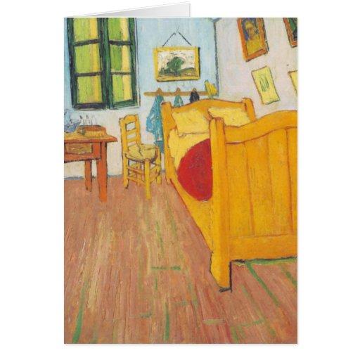 Van Gogh - dormitorio en Arles (1889) Tarjeta Pequeña
