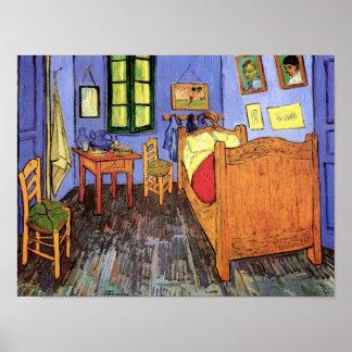 Van Gogh - dormitorio en Arles Póster