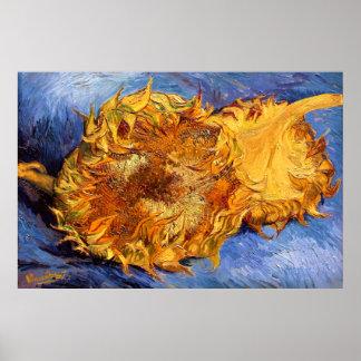 Van Gogh: Dos girasoles cortados Posters