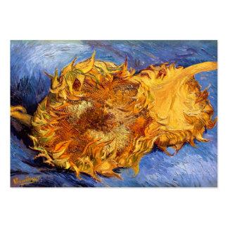 Van Gogh: Dos girasoles cortados Tarjetas De Visita Grandes