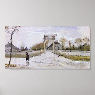 Van Gogh - Drawbridge in Nieuw-Amsterdam Poster
