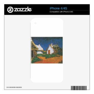 Van_Gogh_-_Drei_weiße_Hütten_in_Saintes-Maries Skins For The iPhone 4