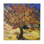 Van Gogh - el árbol de mora Tejas Ceramicas