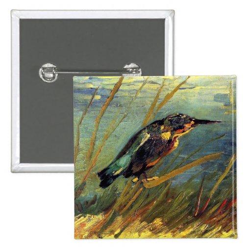 Van Gogh el botón del martín pescador Pins