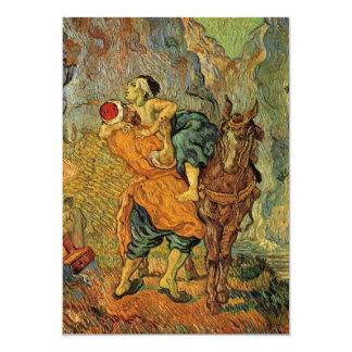 """Van Gogh el buen samaritano, impresionismo del Invitación 5"""" X 7"""""""