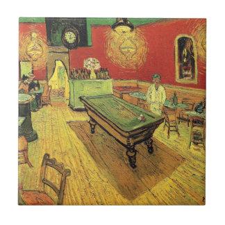 Van Gogh - el café de la noche Azulejo Cuadrado Pequeño