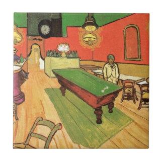 Van Gogh - el café de la noche en Arles Azulejo Cuadrado Pequeño