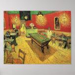 Van Gogh - el café de la noche Póster