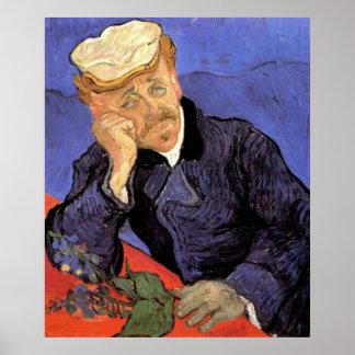 Van Gogh, el doctor Gachet, arte del impresionismo Poster