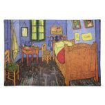 Van Gogh; El dormitorio de Vincent en Arles, arte Manteles Individuales