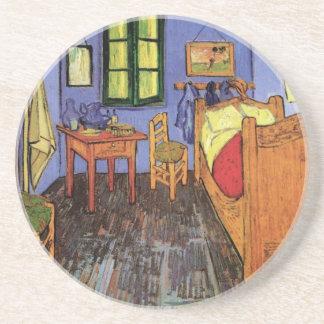 Van Gogh El dormitorio de Vincent en Arles arte Posavasos Cerveza