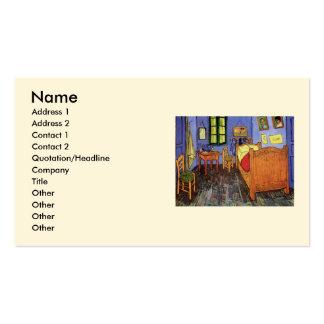 Van Gogh; El dormitorio de Vincent en Arles, arte  Plantillas De Tarjetas De Visita