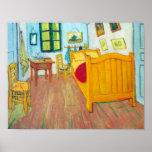 Van Gogh - el dormitorio en el Santo-Remy de Arles Impresiones