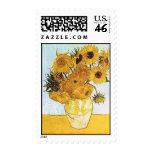 Van Gogh el florero con el sello de 12 girasoles