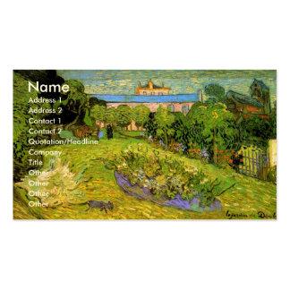 Van Gogh; El jardín de Daubigny, Le Jardin de Daub Plantillas De Tarjetas Personales