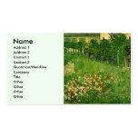 Van Gogh, el jardín de Daubigny, Le Jardin de Tarjeta De Visita