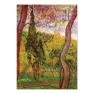 Van Gogh el jardín del hospital de Saint Paul Invitación 12,7 X 17,8 Cm