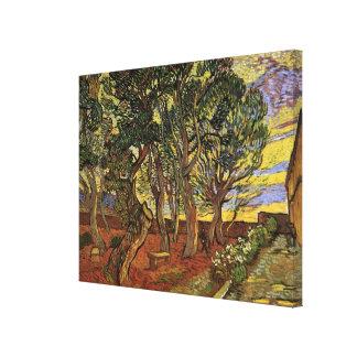 Van Gogh el jardín del hospital de Saint Paul Impresión En Lienzo Estirada
