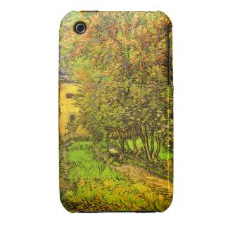 Van Gogh: El jardín del hospital de San Pablo Case-Mate iPhone 3 Protectores