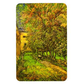 Van Gogh: El jardín del hospital de San Pablo Rectangle Magnet