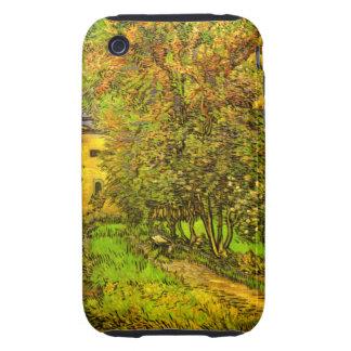 Van Gogh: El jardín del hospital de San Pablo iPhone 3 Tough Carcasa
