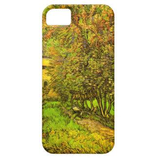Van Gogh: El jardín del hospital de San Pablo iPhone 5 Carcasas