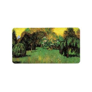 Van Gogh el jardín del poeta, impresionismo del Etiqueta De Dirección