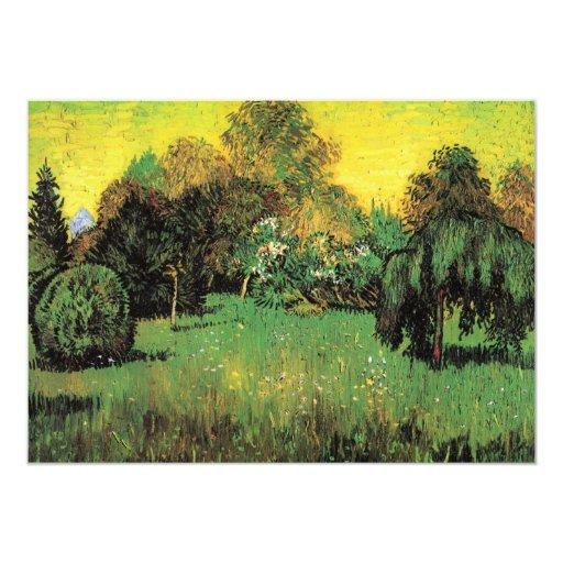 """Van Gogh el jardín del poeta, impresionismo del Invitación 5"""" X 7"""""""