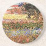Van Gogh; El jardín floreciente, vintage florece Posavasos Manualidades