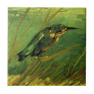 Van Gogh el martín pescador, arte del Azulejo Cuadrado Pequeño