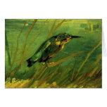 Van Gogh el martín pescador, arte del Felicitación