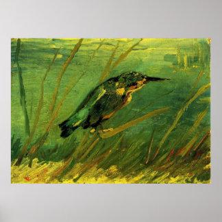 Van Gogh el martín pescador arte del impresionism Posters