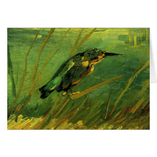 Van Gogh el martín pescador arte del impresionism Felicitación