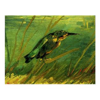 Van Gogh el martín pescador, arte del Postal