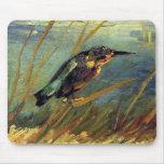 Van Gogh el martín pescador Mousepad Tapete De Ratón