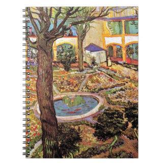 Van Gogh - el patio del hospital en Arles Libro De Apuntes