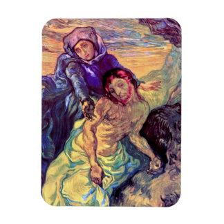 Van Gogh - el Pieta (después de Delacroix) Imanes Rectangulares