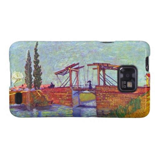 Van Gogh - el puente de Langlois en Arles Carcasa Para Samsung Galaxy SII