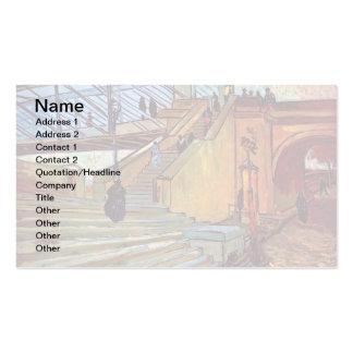 Van Gogh - el puente de Trinquetaille Tarjetas De Visita