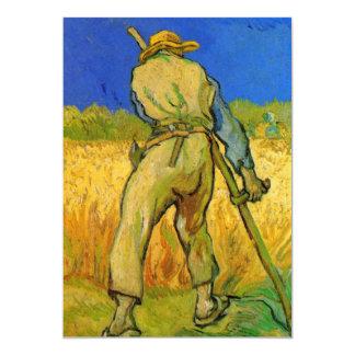"""Van Gogh; El segador, granjero del impresionismo Invitación 5"""" X 7"""""""