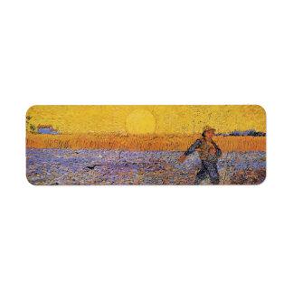 Van Gogh el sembrador arte del impresionismo del Etiquetas De Remite