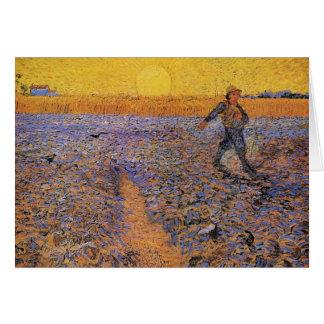 Van Gogh el sembrador arte del impresionismo del Felicitación
