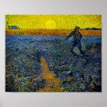 Van Gogh el sembrador (F 422) Posters
