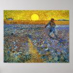 Van Gogh - el sembrador (sembrador con el sol poni Impresiones