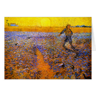Van Gogh El sembrador Felicitación