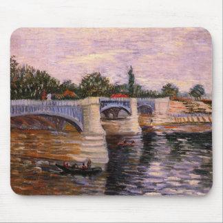 Van Gogh el Sena Pont del Grande Jette, bella arte Mouse Pads